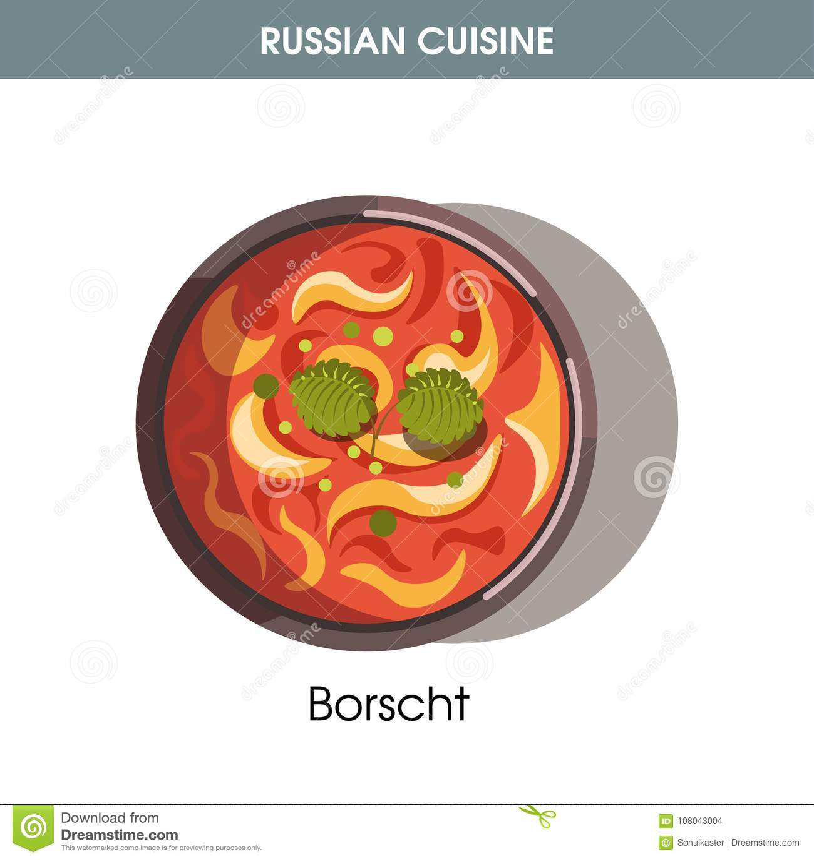 Tjock Borscht med lagersidor från rysk kokkonst