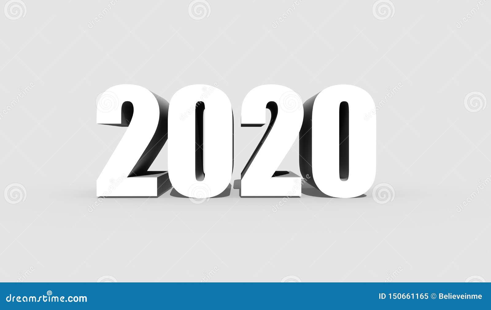 Tjugo tjugo eller tvåtusen tjugo diagram på en grå bakgrund