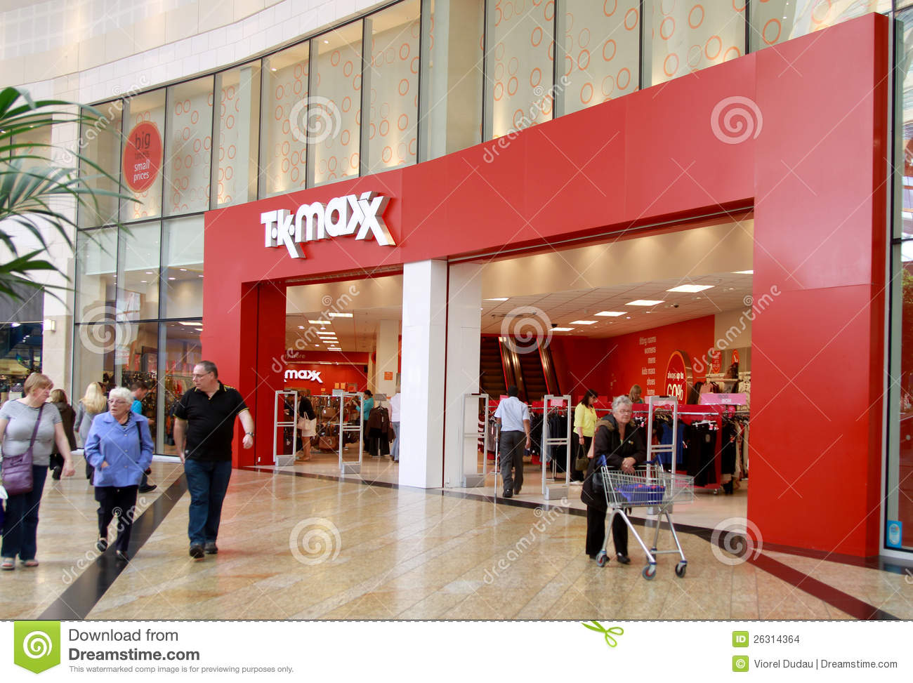 tk maxx shop in a mall editorial stock image image 26314364. Black Bedroom Furniture Sets. Home Design Ideas