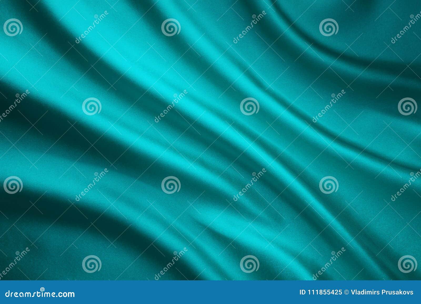 Tkaniny falowania Jedwabniczy tło, cyraneczki Atłasowy płótno Miąca fala