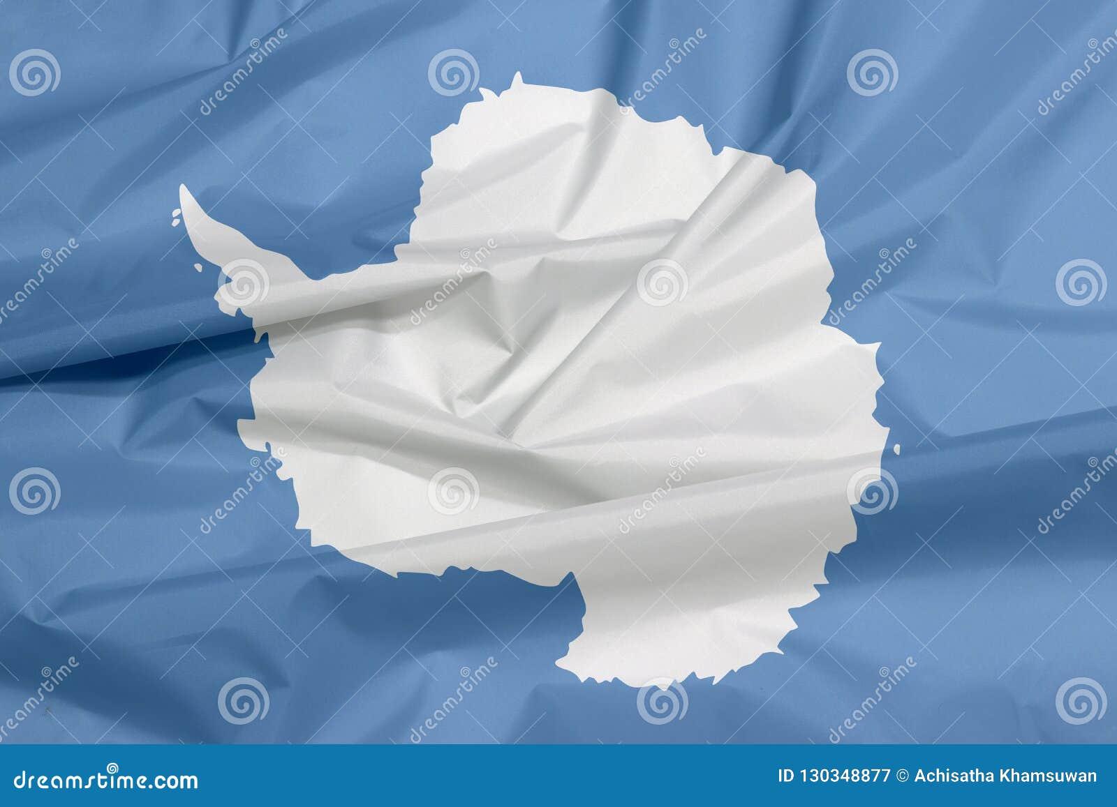 Tkaniny flaga Antarctica Zagniecenie Antarctica flagi tło