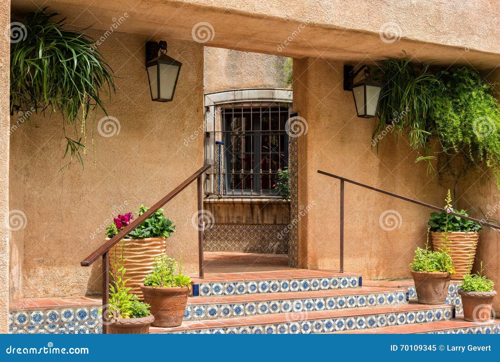 Tlaquepaque Architecture In Sedona Arizona Stock Photo