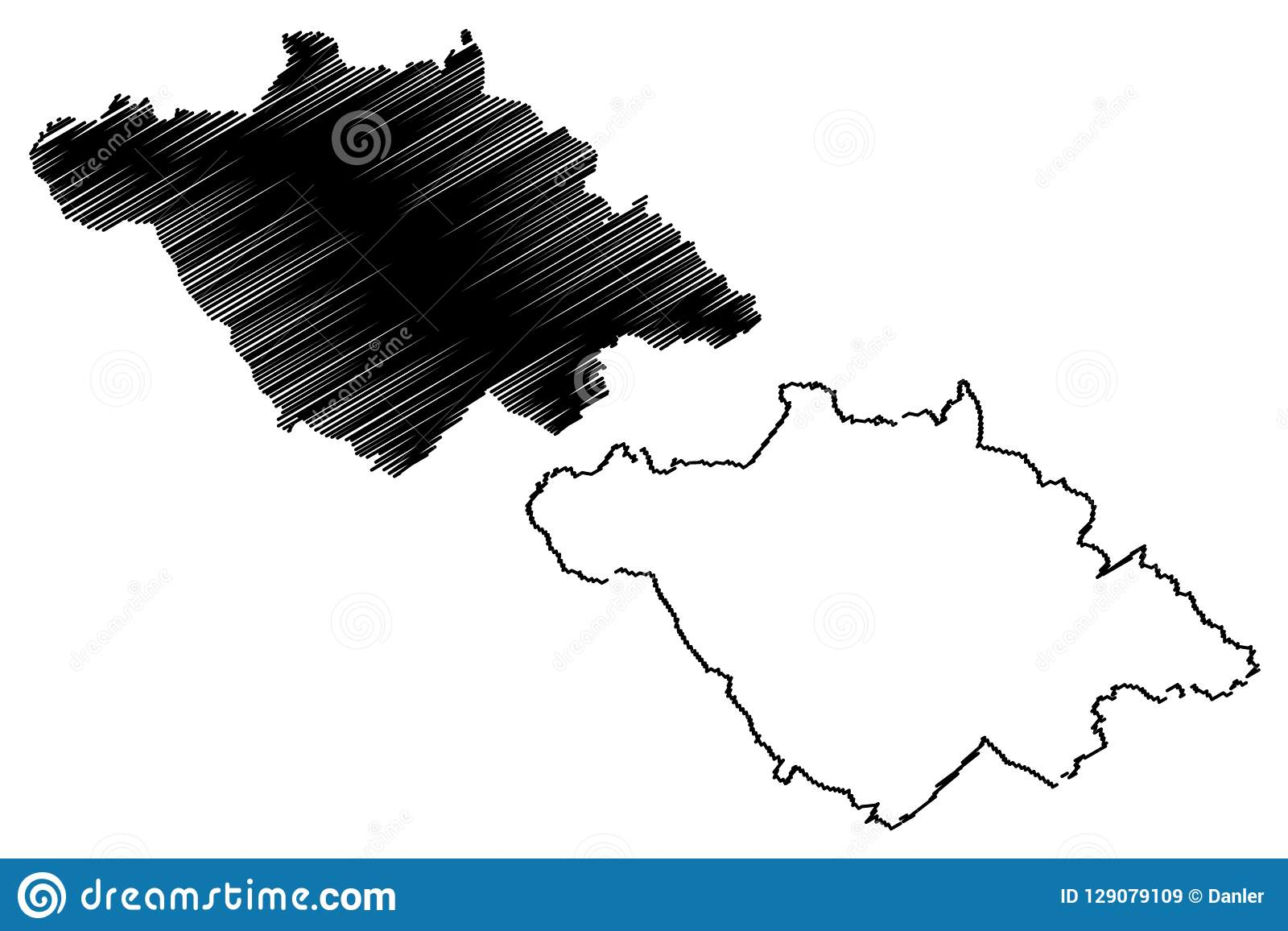 Tlaxcala Map Vector Stock Vector Illustration Of Geography 129079109