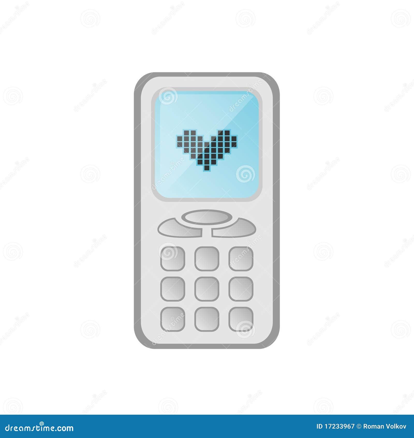 t l phone portable de dessin anim photographie stock libre de droits image 17233967. Black Bedroom Furniture Sets. Home Design Ideas