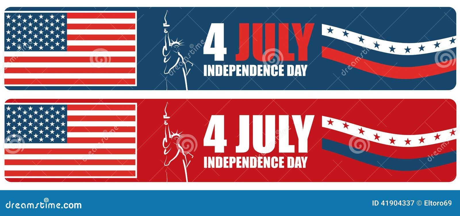 4to de la bandera americana del Día de la Independencia de julio