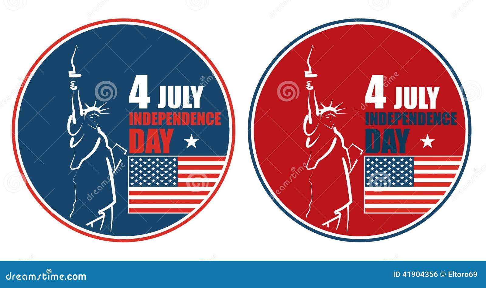 4to del Día de la Independencia americano de julio, ejemplo abstracto