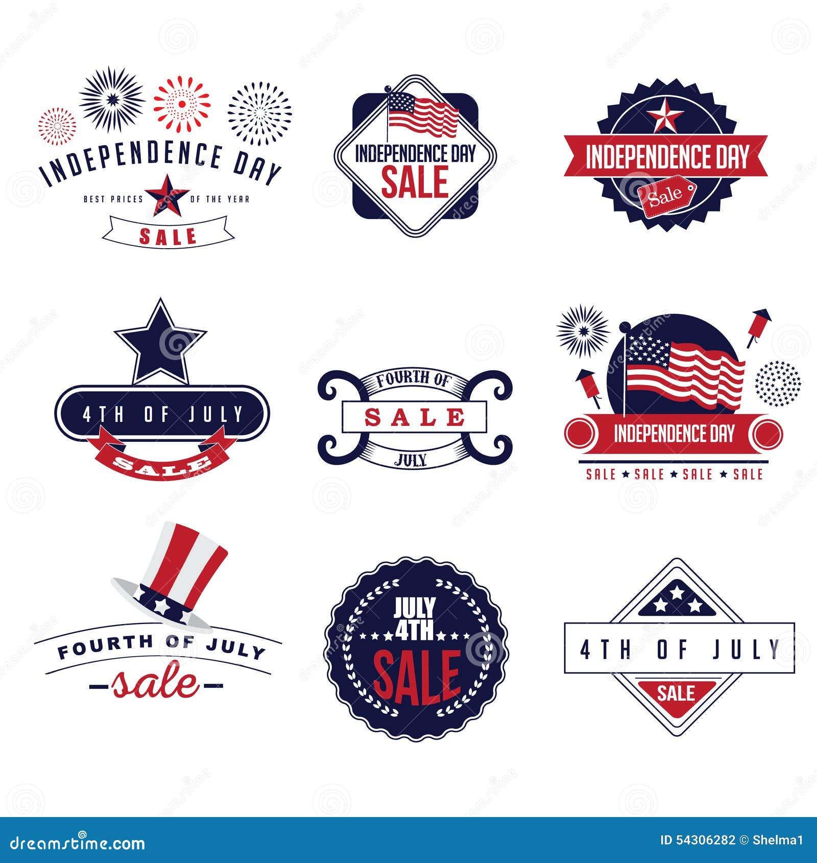 4to del vector de los iconos EPS 10 de la venta de julio