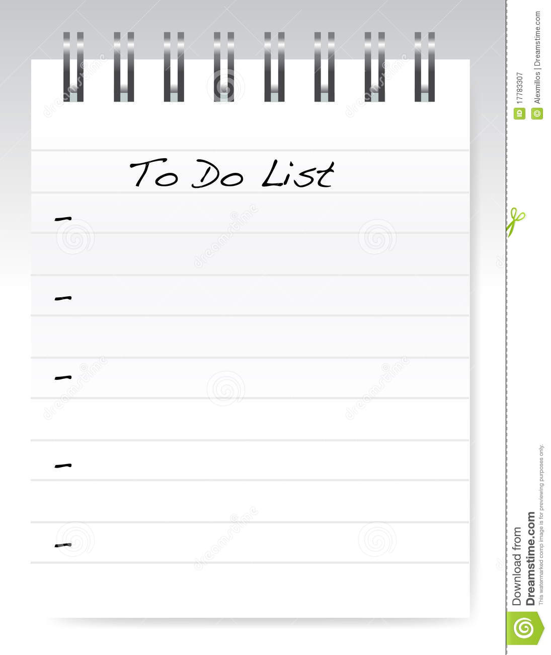 To Do List Royalty Free Stock Photography Image 17783307