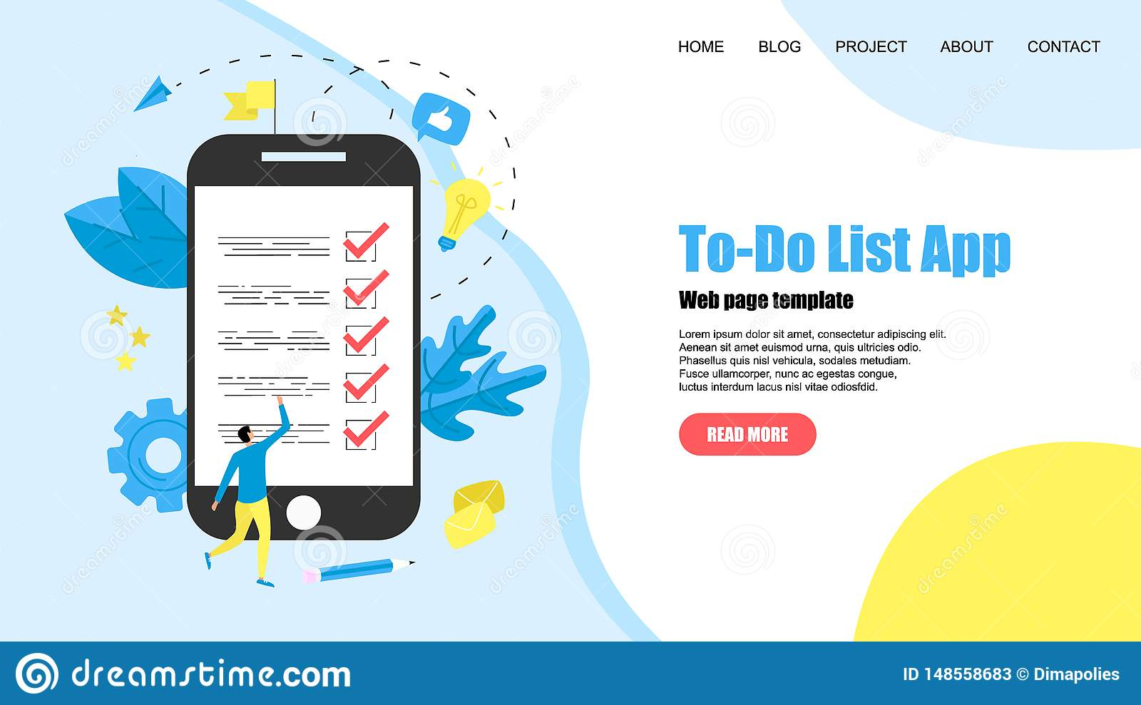 To-Do list apps. Task manager concepts. Online action plan concept. Business, time management