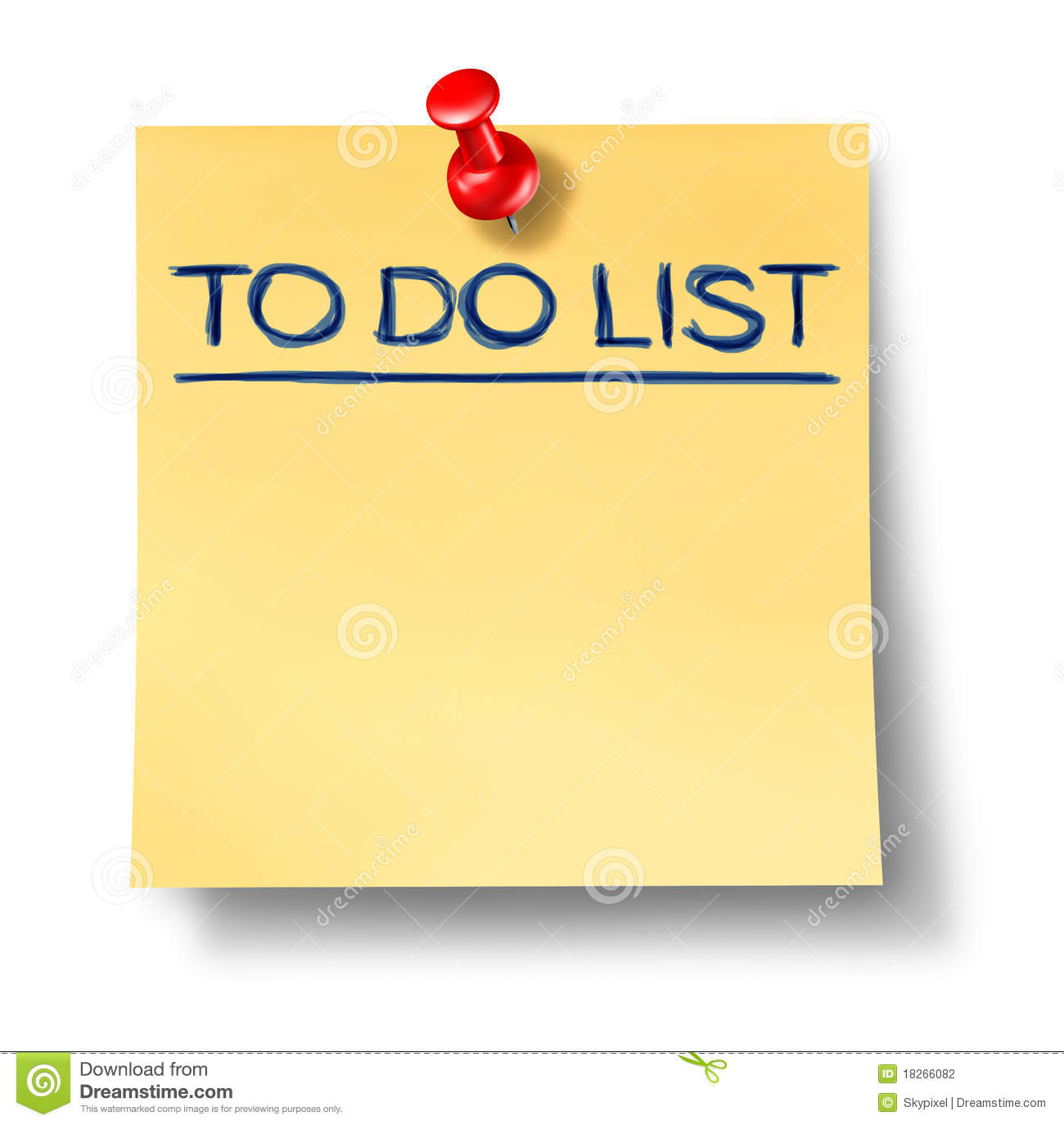 To do list blank office note isolated stock photography image