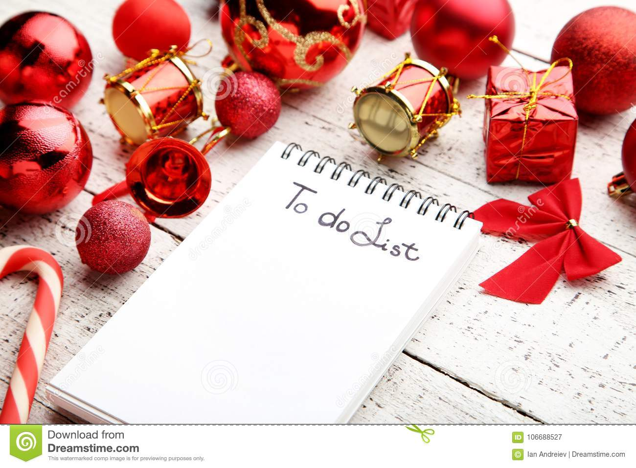 download to do list with christmas decorations stock image image of blank calendar