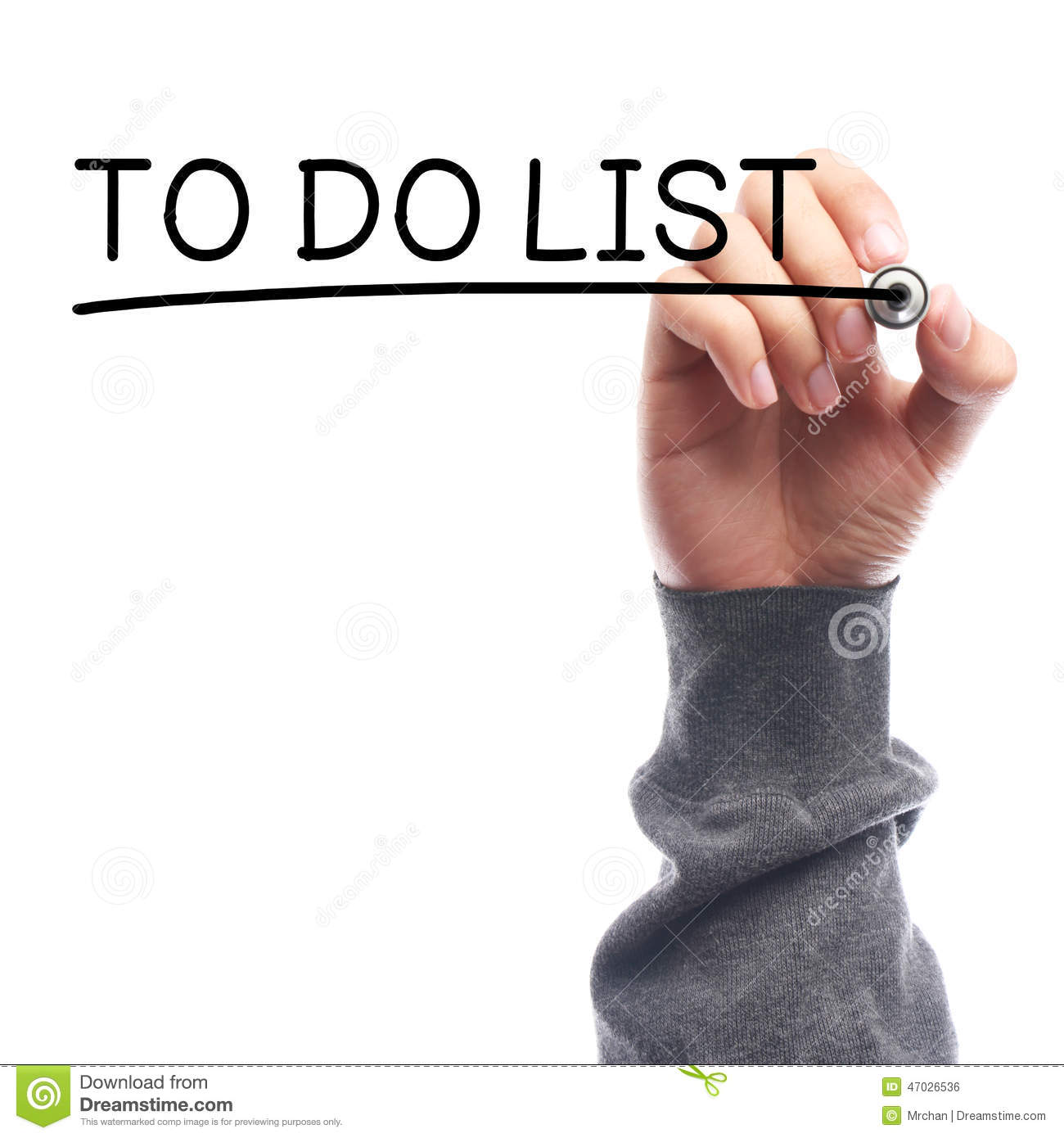 to do list stock photo. image of memo, dedication, against - 47026536
