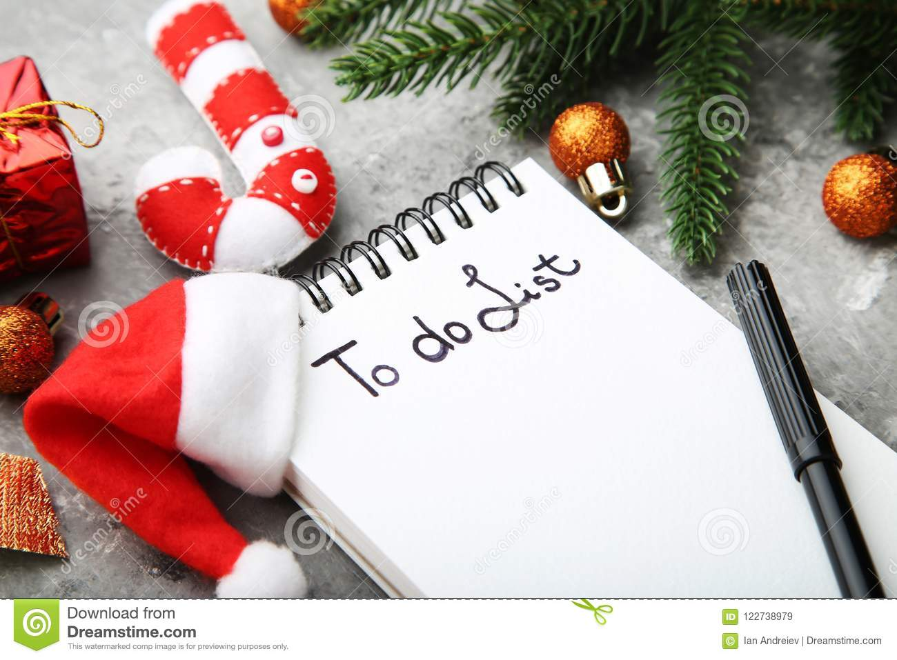 download to do list in notepad stock image image of calendar 122738979 - Christmas Decorations List