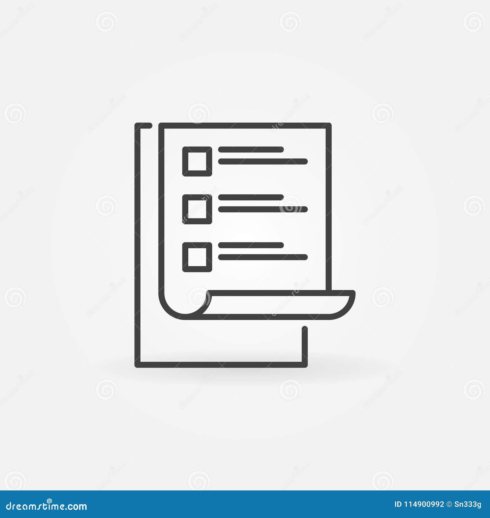 To Do List Vector Modern Simple Icon Checklist Symbol Stock Vector
