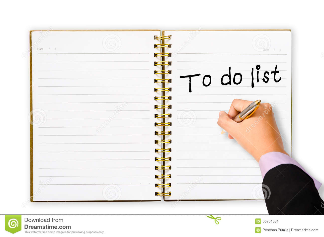 to do list for you marketing plan  stock photo