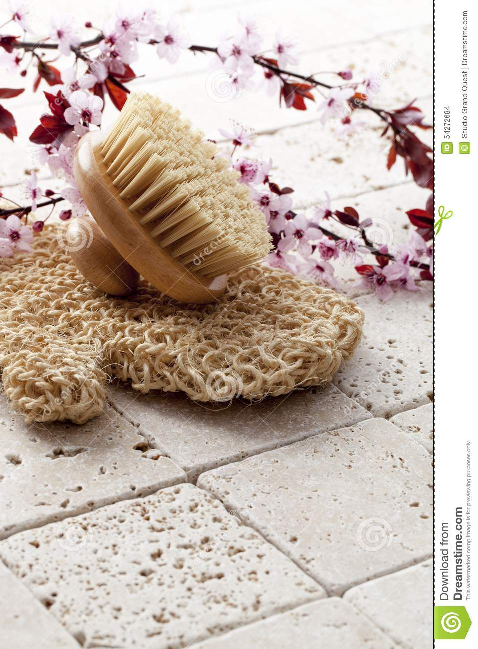 To Exfoliate With Pampering And Femininity To Exfoliate With Pampering And  Femininity Stock Photo Image