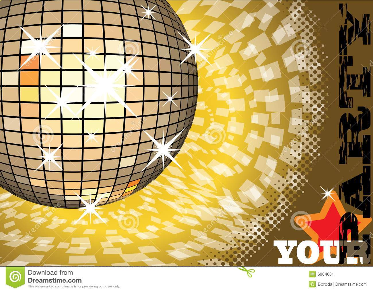 To give a gold party stock vector image of dancing gold for Gold party