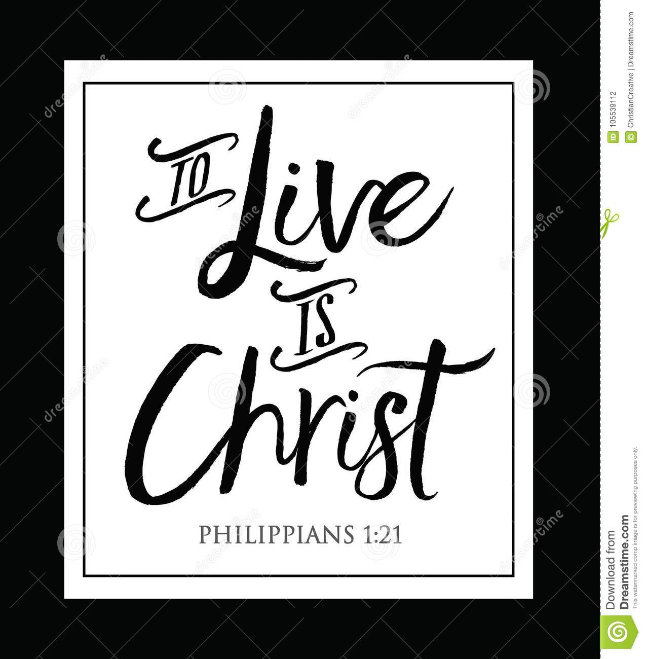 to live is christ stock vector illustration of belief 105539112