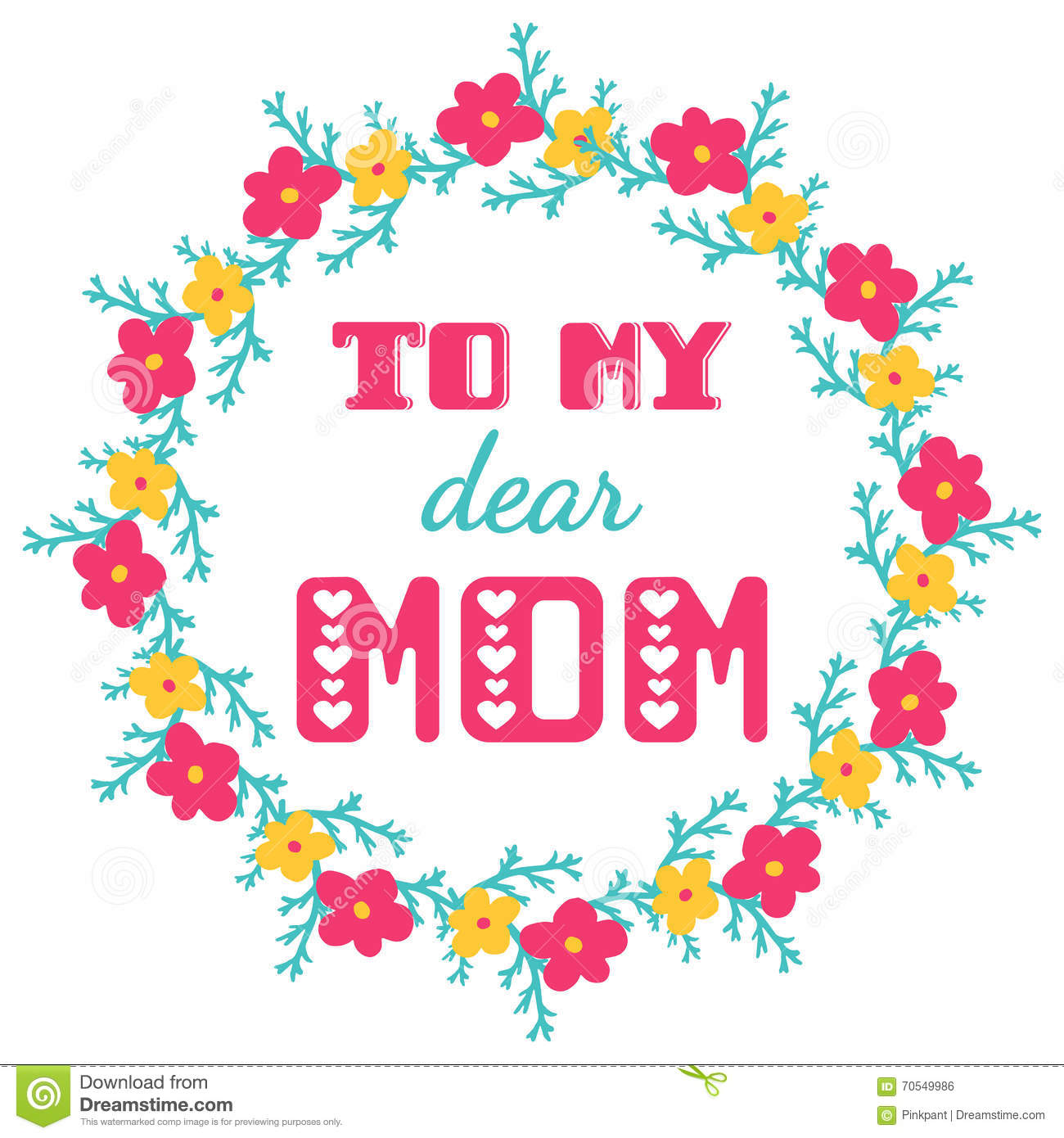 To my dear mom greeting cards inscription for mothers day stock download to my dear mom greeting cards inscription for mothers day stock vector m4hsunfo