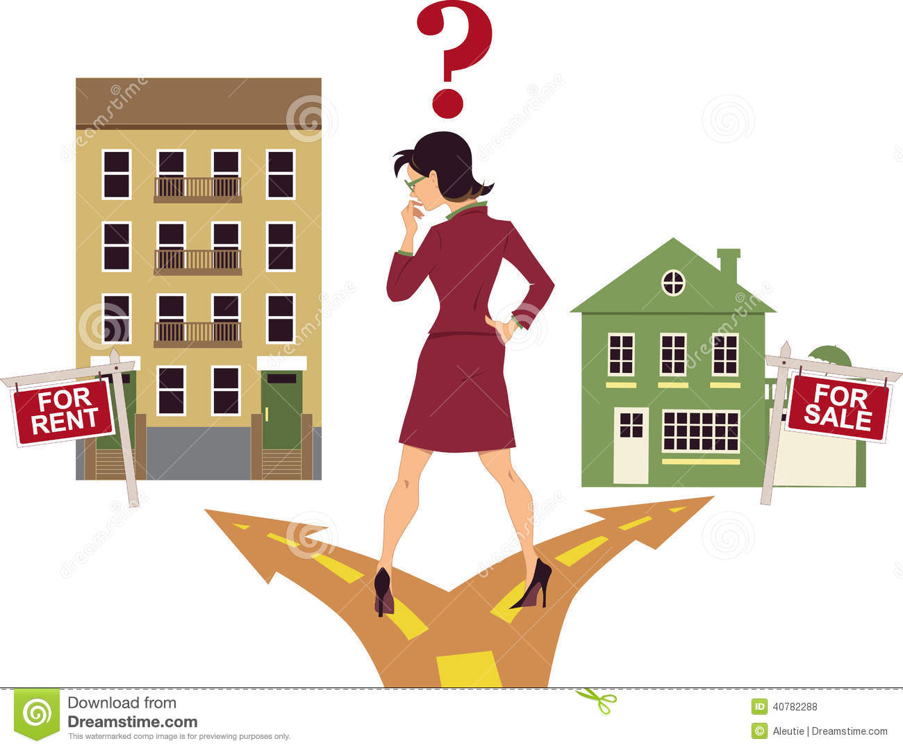To rent or buy stock vector image 40782288 for Find a house online