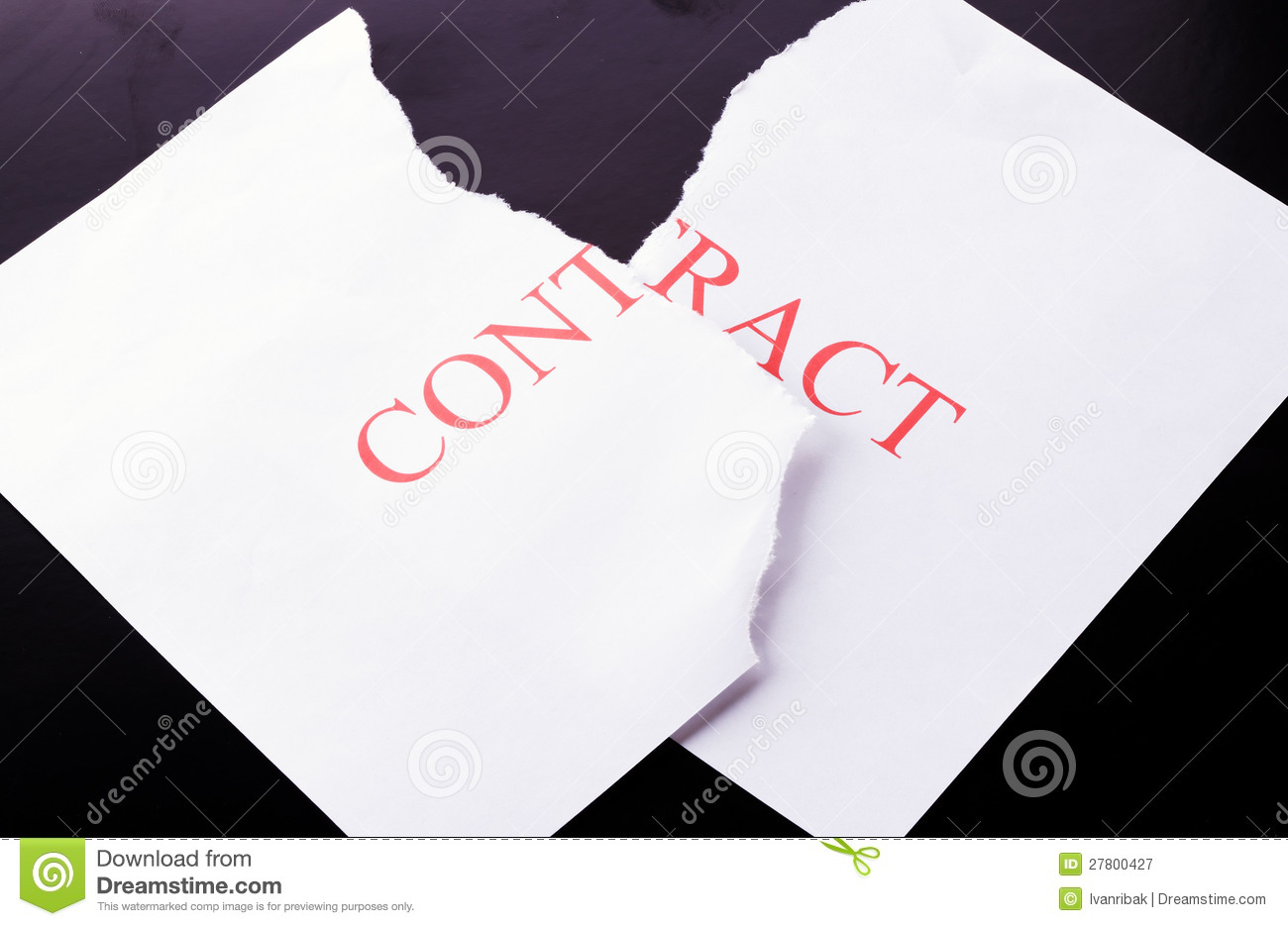 To terminate the contract