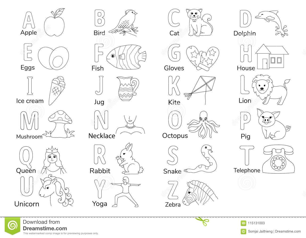 A TO Z stock vector. Illustration of printable, preschool ...
