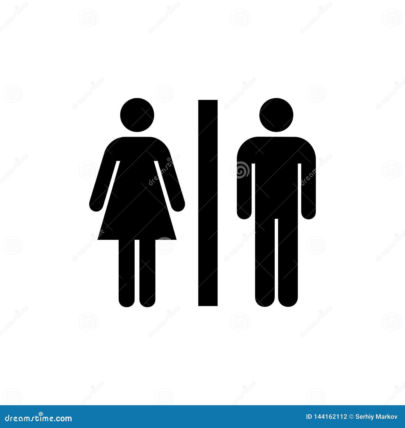 Toaletowy ikony mieszkanie