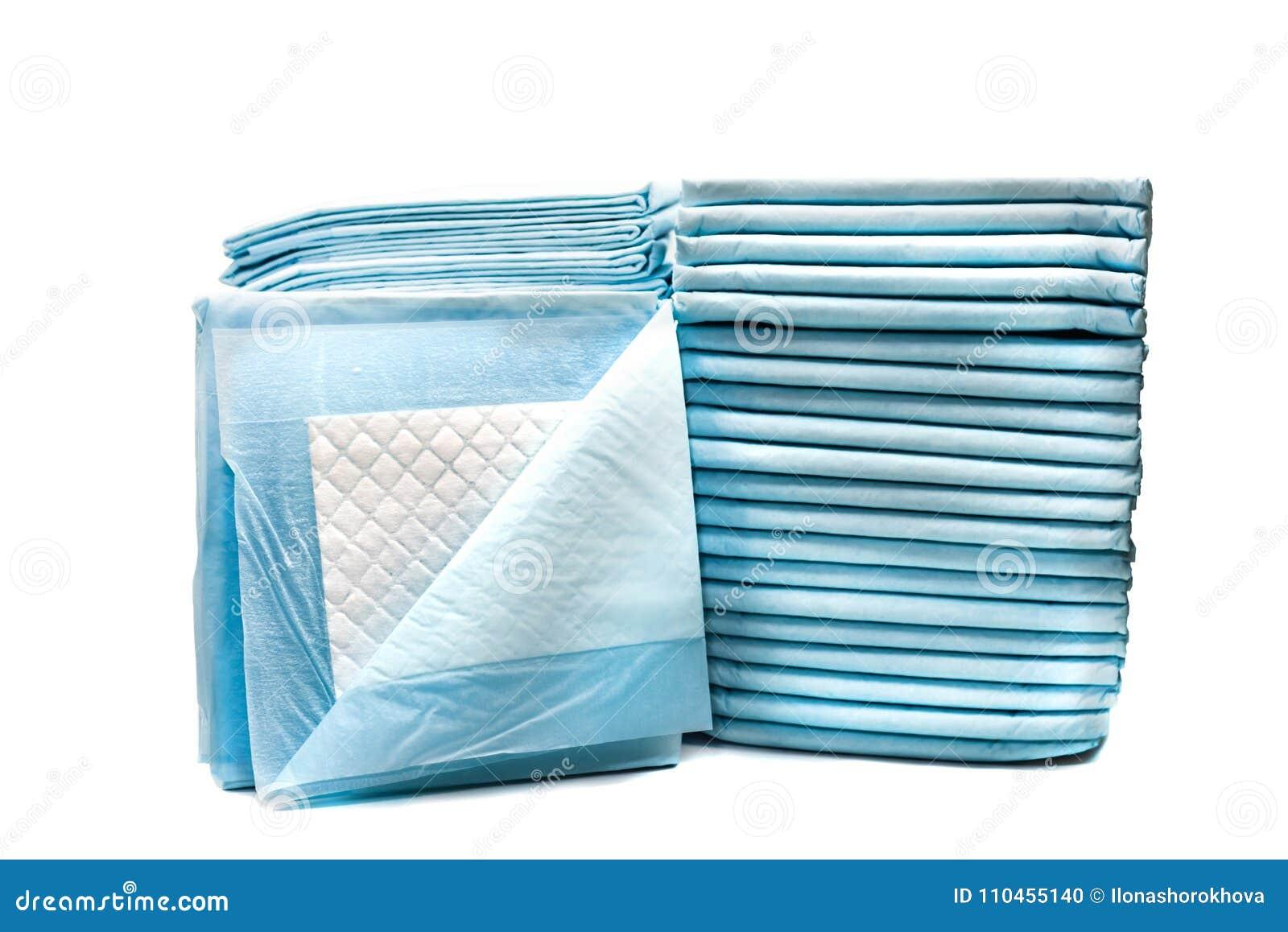 Toalettservetter för husdjur som isoleras på vit bakgrund läckaprovexemplarblock för husdjur