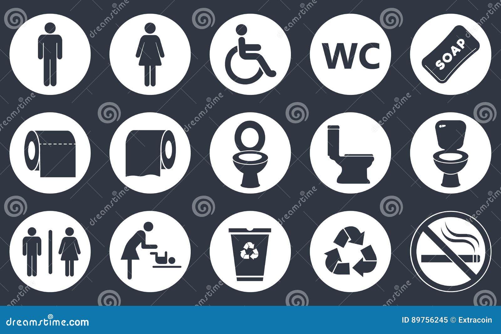 Toalettsymbolsuppsättning