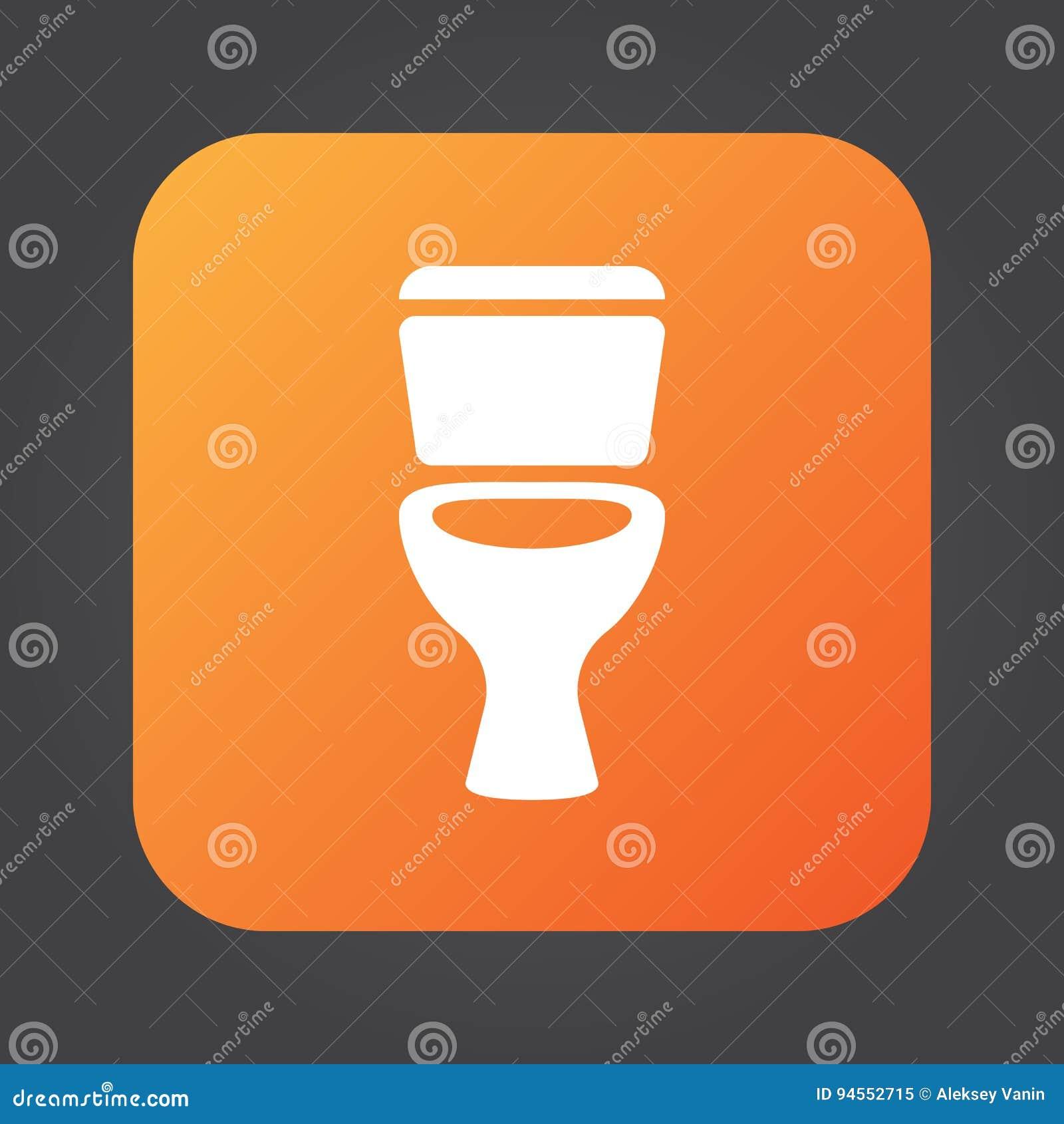Toalettsymbolsvektor, logoillustration för fast färg, pictogram som isoleras på svart