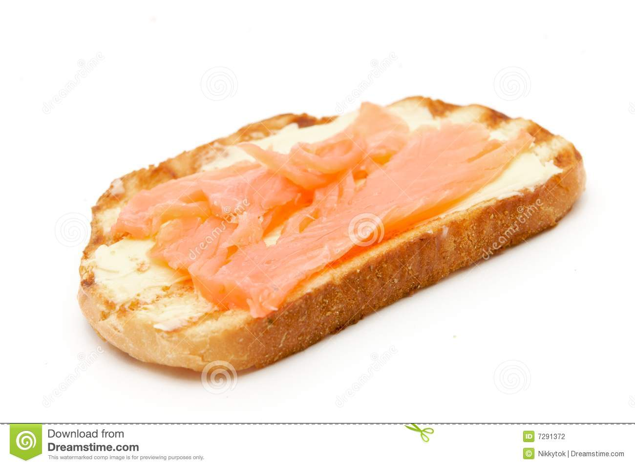Toast bread with fish stock photography image 7291372 for How to bread fish