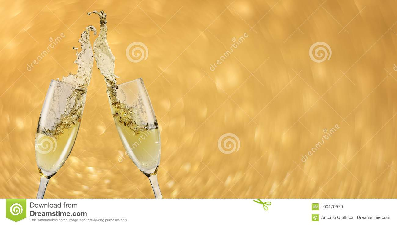 toast champagne banner new year
