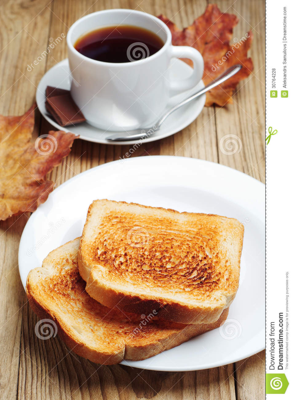 Toast And Cup Of Coffee Royalty Free Stock Photos Image