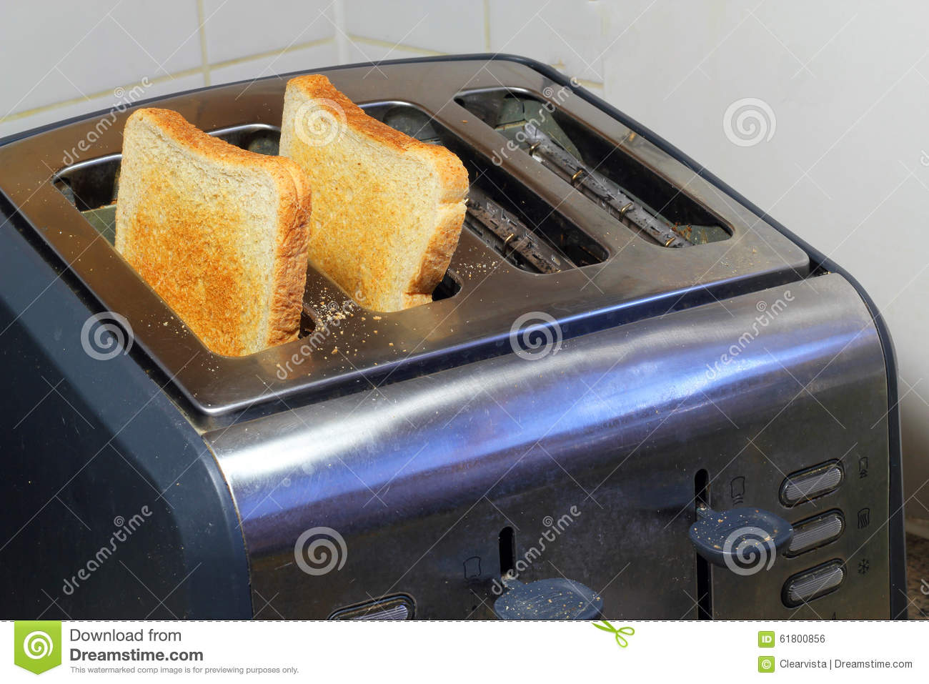 Inside Of A Toaster ~ Toast inside a toaster just popped up stock photo image