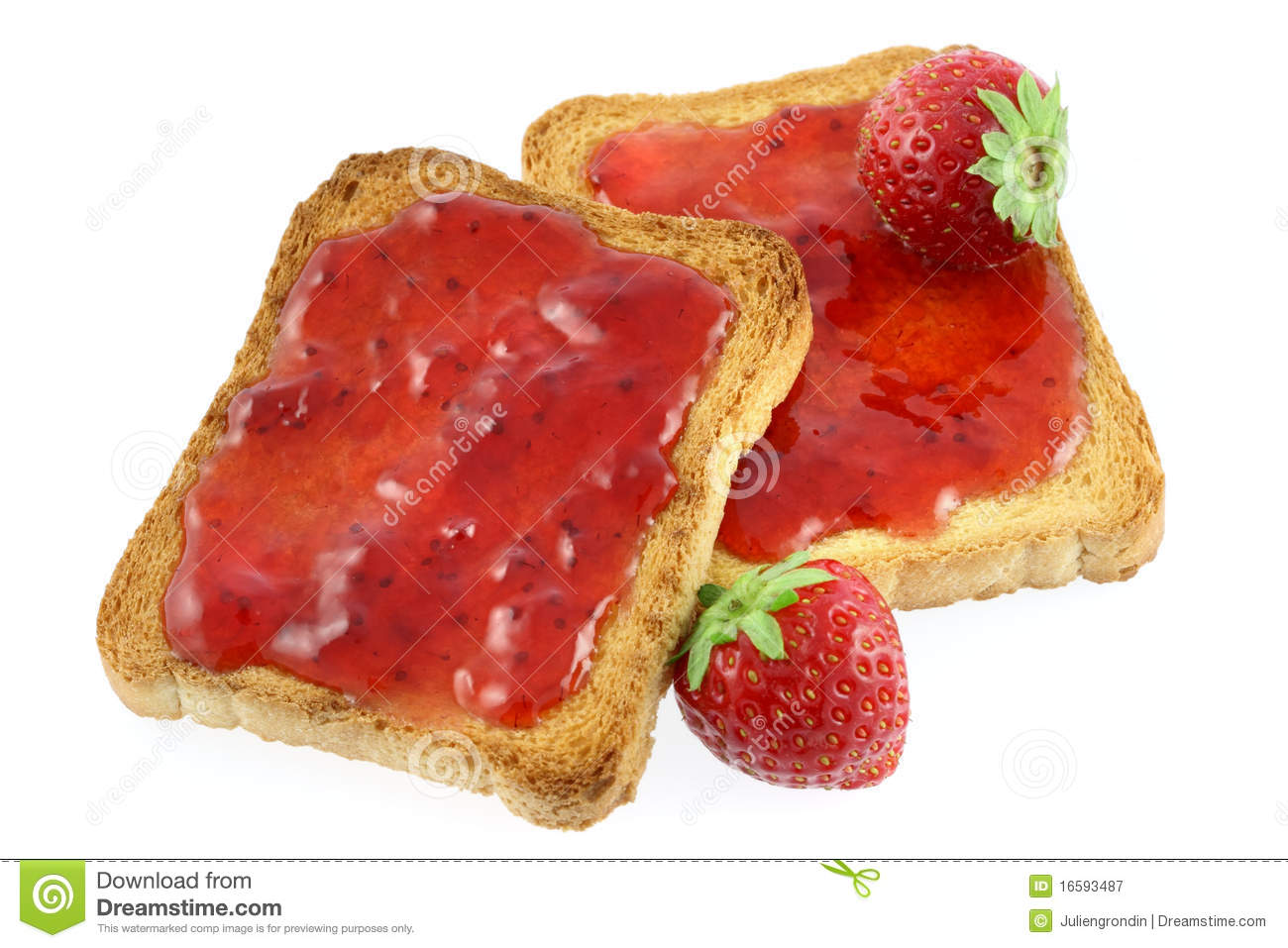 Toast And Jam Royalty Free Stock Photography Image 16593487