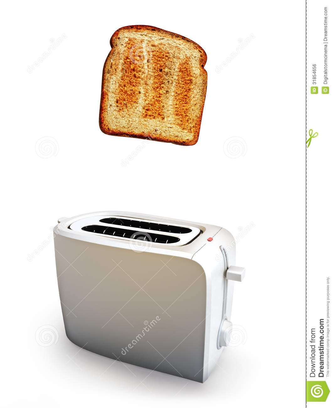 Toast popping out of a toaster  A Toaster