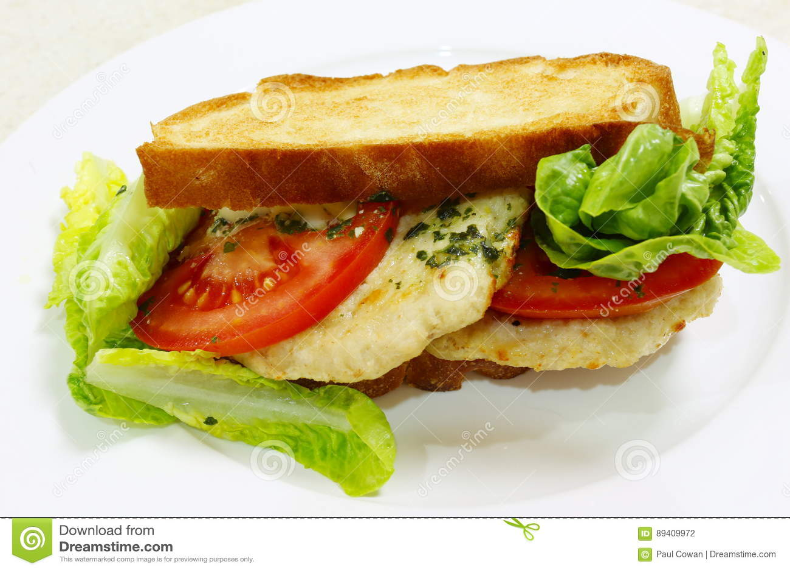 Cock meat sanwich