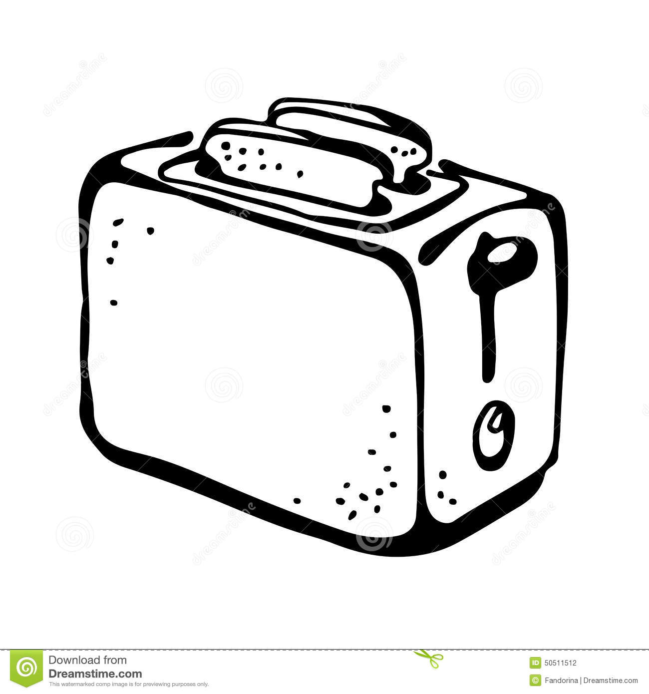 Stock Illustration Toaster Drawing Isolated White Background Image50511512 on Cartoon Breakfast