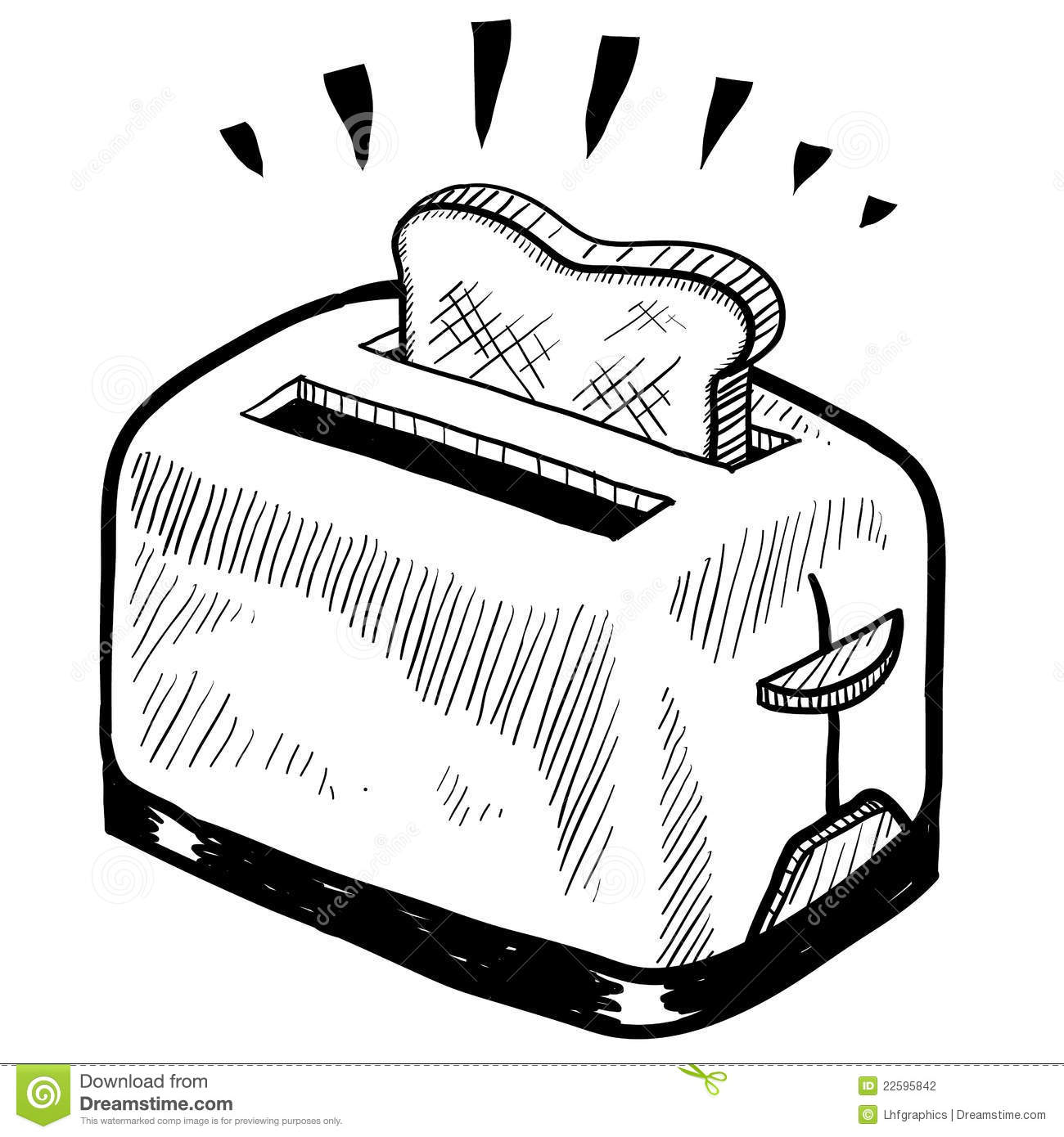 Toaster Sketch Stock Photography - Image: 22595842