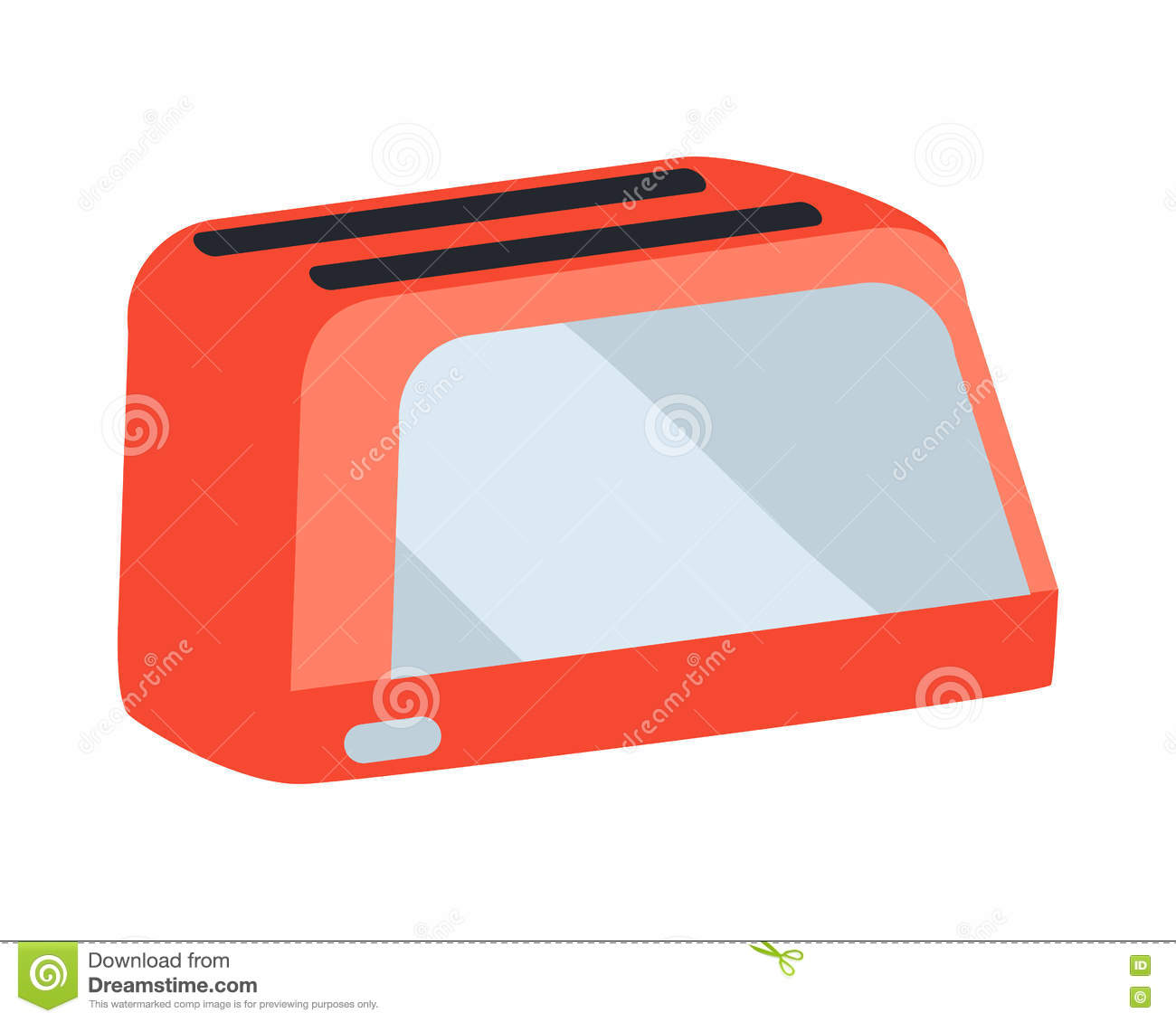 409fdf07ad Red toaster vector icon. Traditional kitchen appliance for roasting slices  of bread vector illustration isolated on white background.