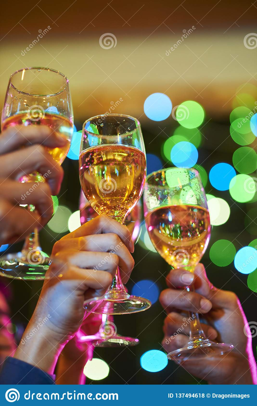 Toasting for health and prosperity