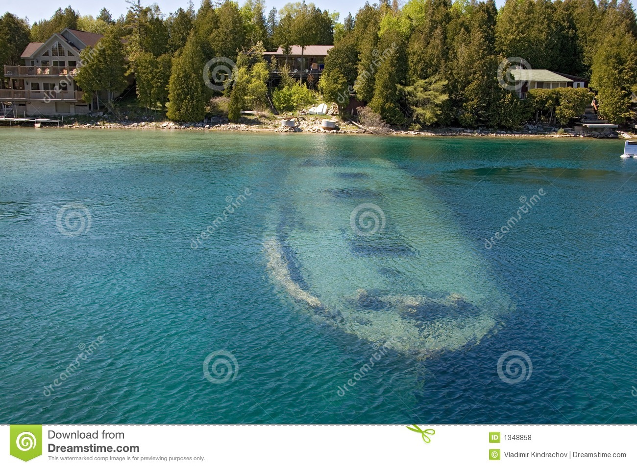 Tobermory Boat Under Water Stock Photo Image Of Deep