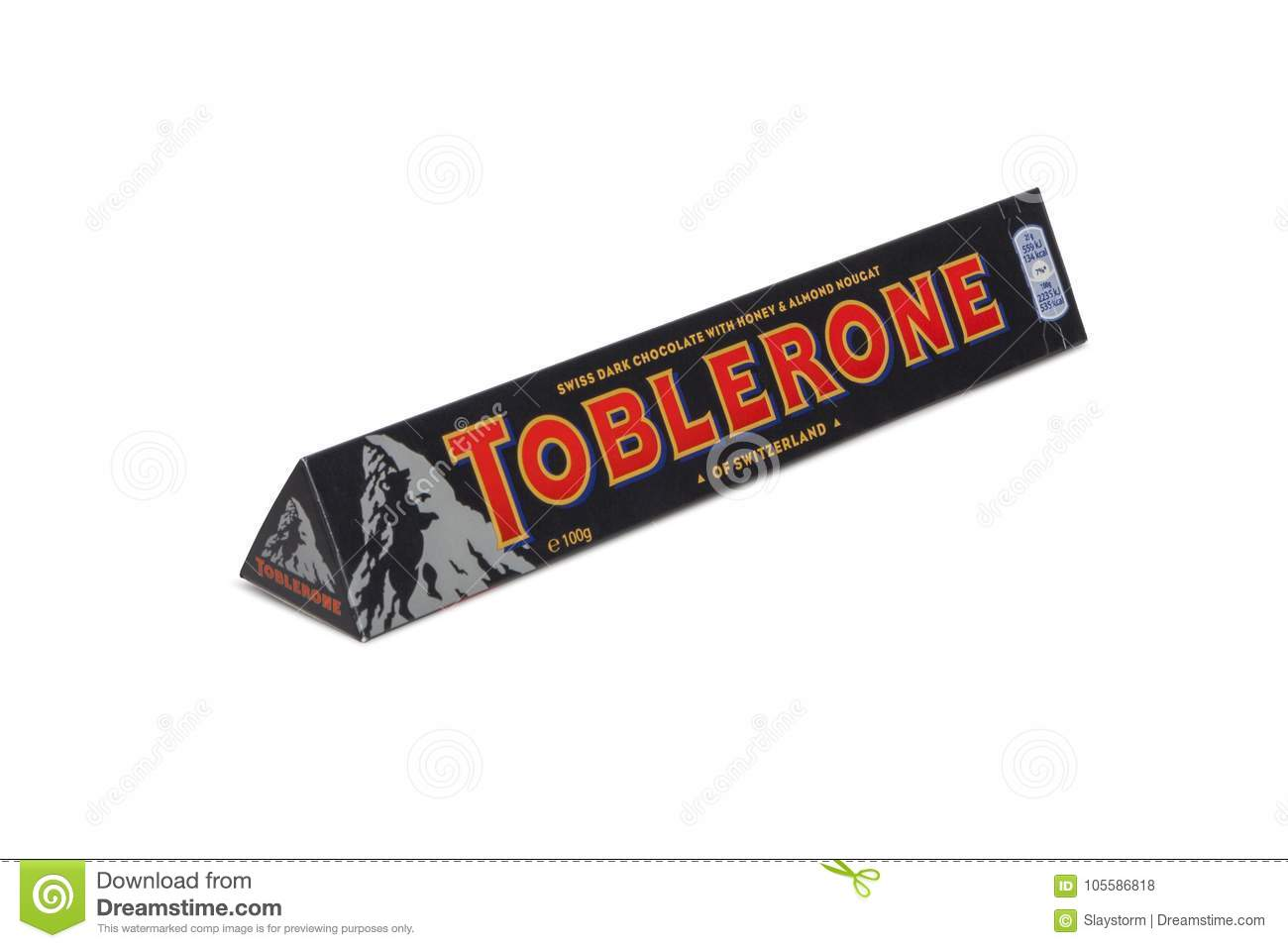 Toblerone Swiss Milk Chocolate With Honey And Almond