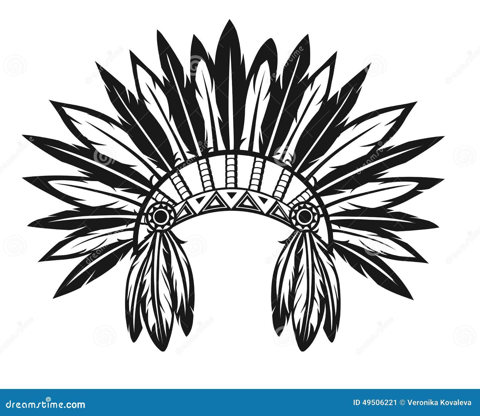 Tocado indio ilustración del vector. Ilustración de mascota - 49506221
