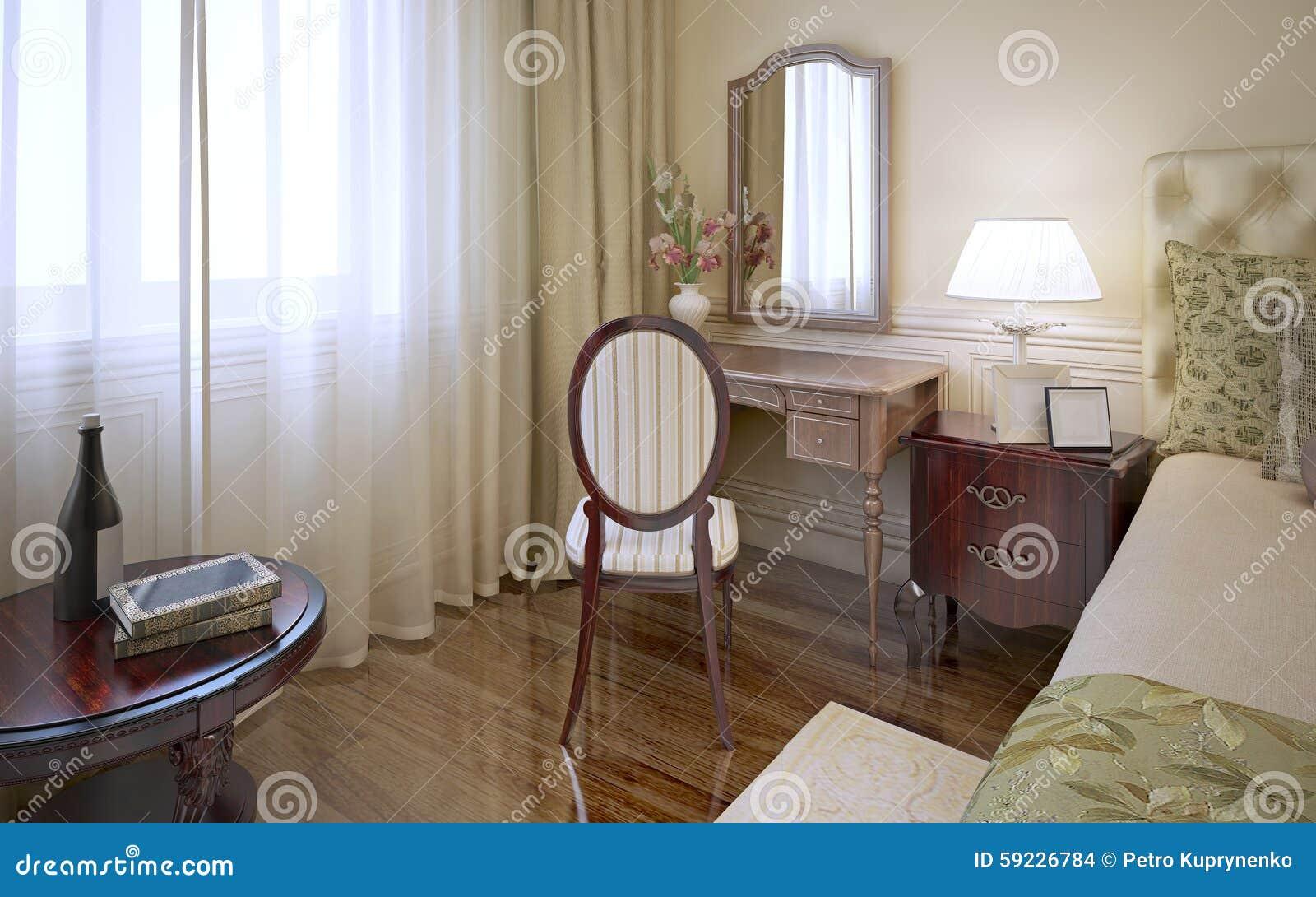 Tocador en dormitorio clásico