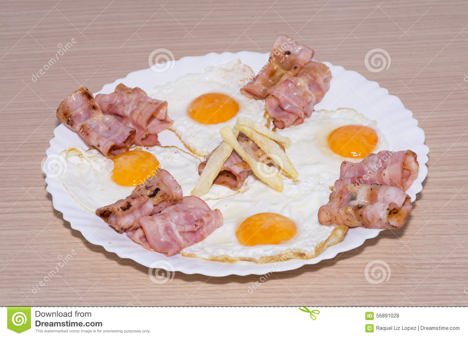 Tocino y huevos