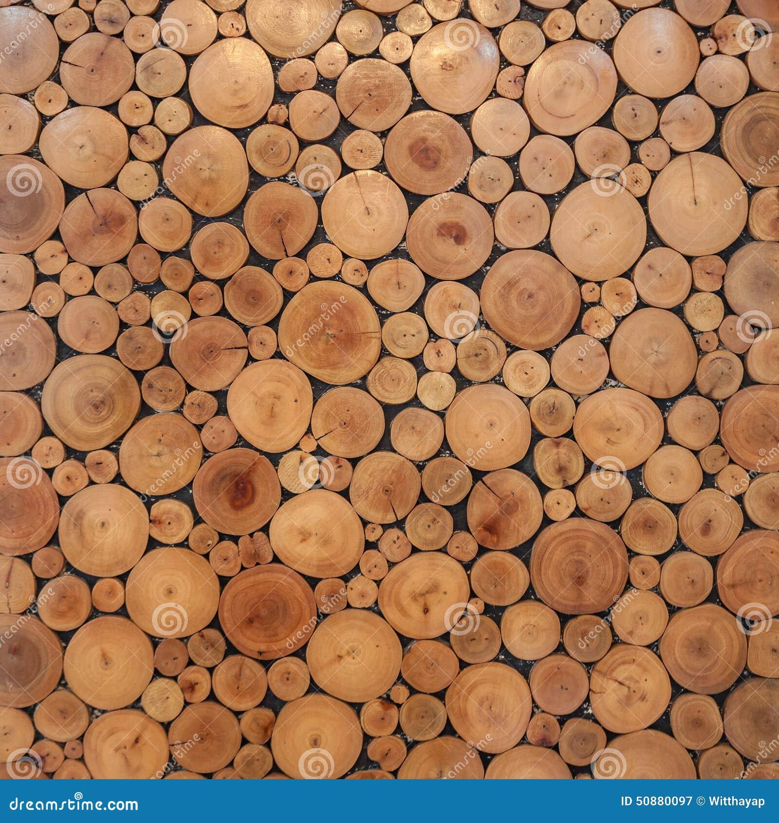 Tocones marrones de madera del c rculo del rbol foto de - Tocones de madera ...