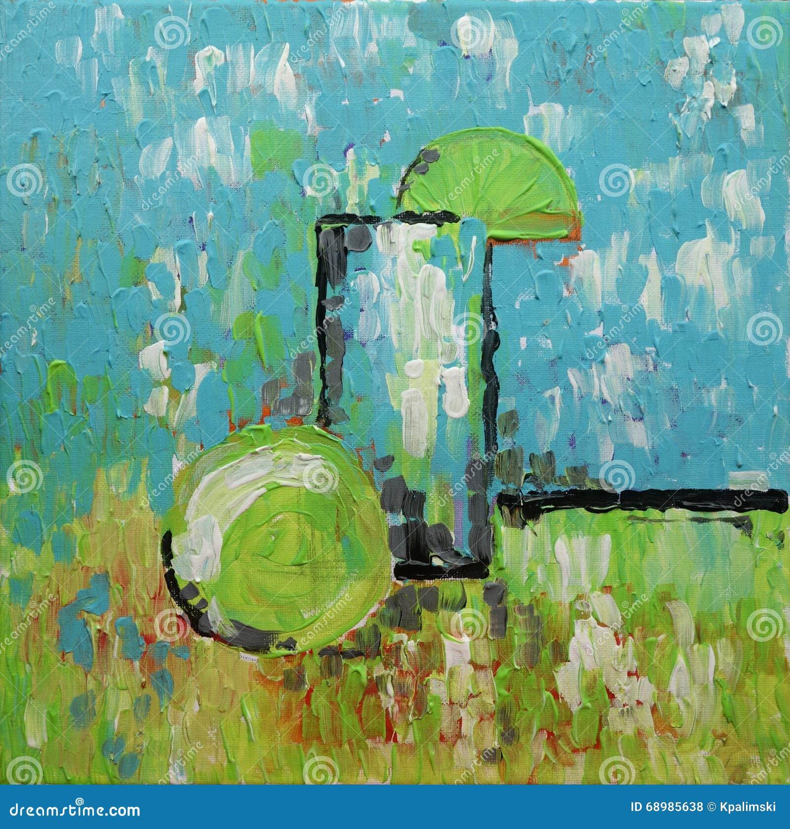 Todavía pintura al óleo de la original del arte abstracto de la vida