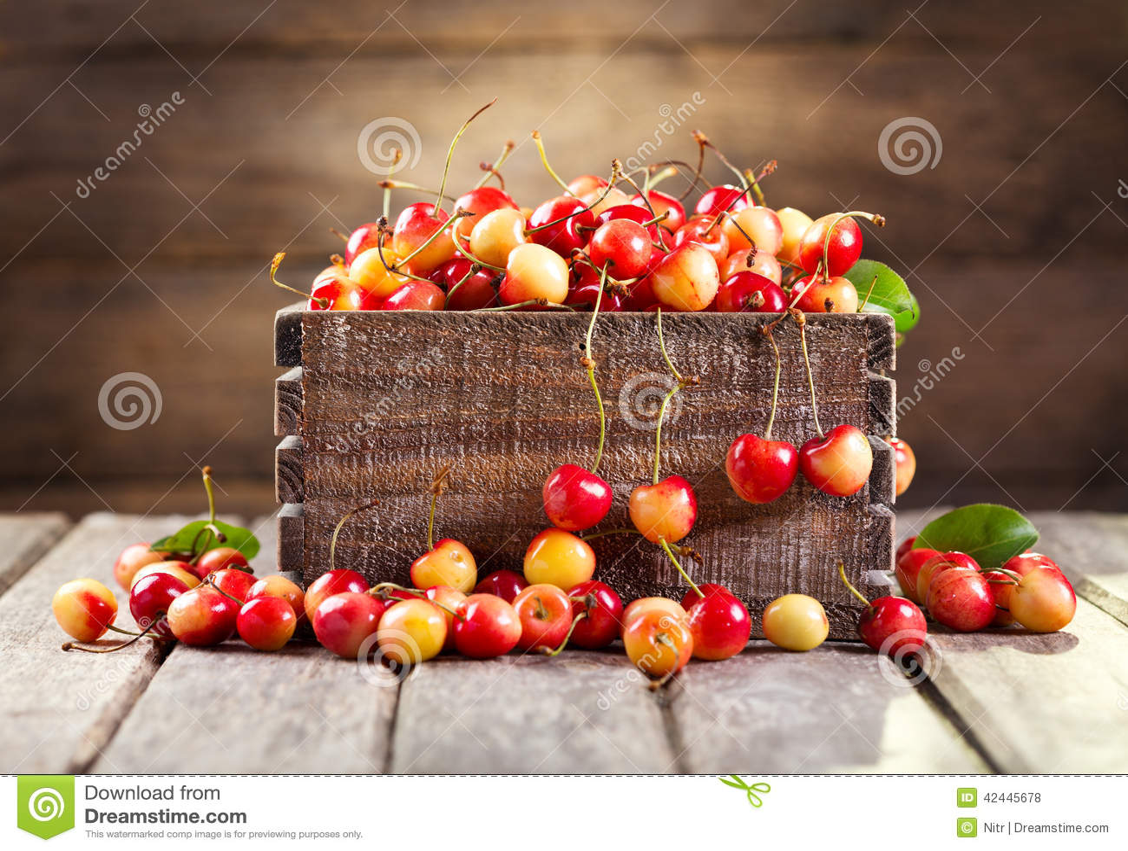 Todavía vida con las cerezas frescas