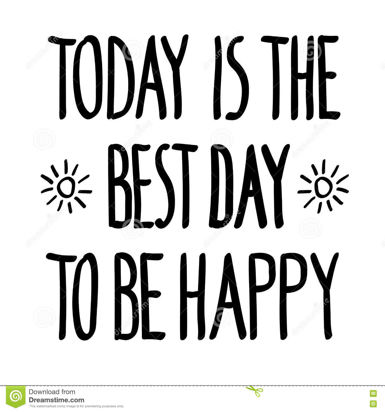 Today Best Day Happy Doodle Stock Illustration Illustration Of
